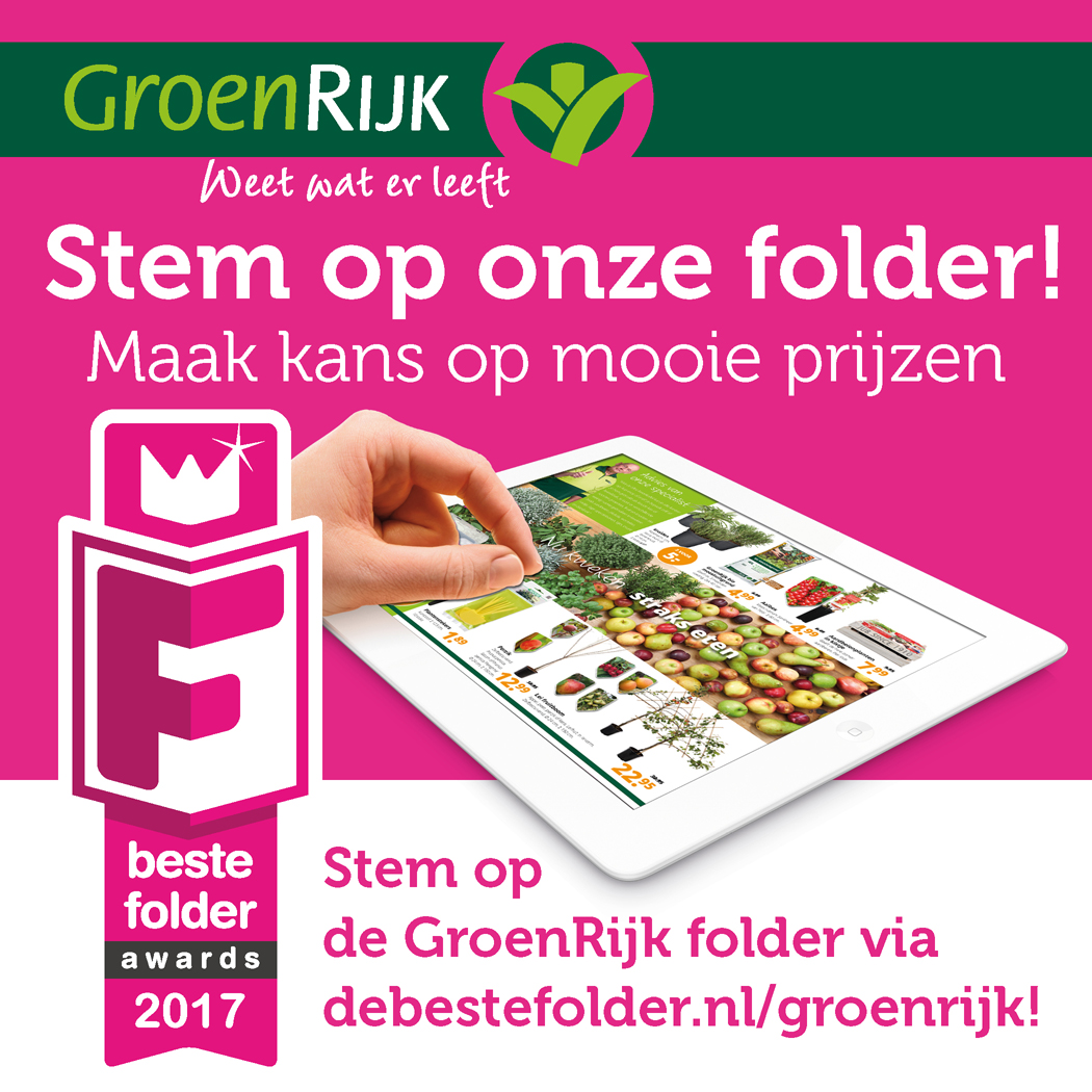 Folder tuincentrum GroenRijk
