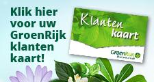 Klantenkaart Groenrijk tuincentrum